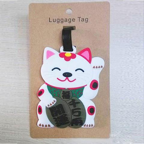 Thẻ đeo hành lý name tag mèo thần tài