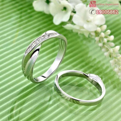 Nhẫn bạc đính đá nam size S