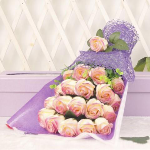 Hoa hồng 19 bông - Gift-set tím