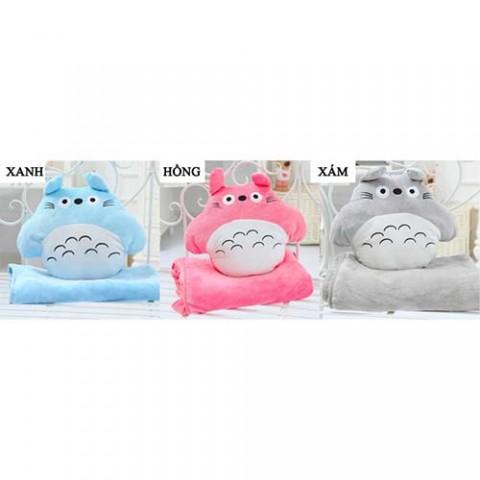 Bộ chăn gối 3 trong 1 hình Totoro