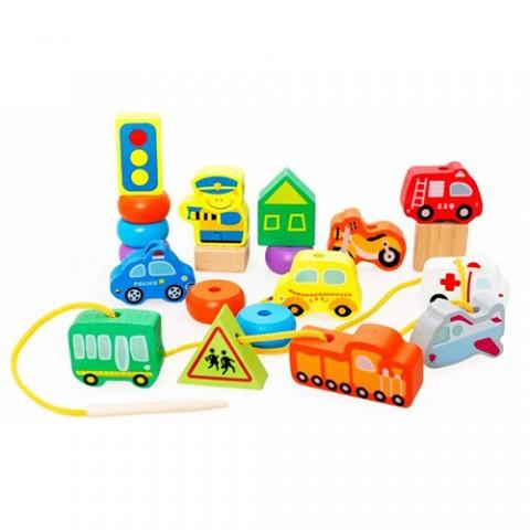 Bộ đồ chơi bằng gỗ - Mô hình phương tiện giao thông