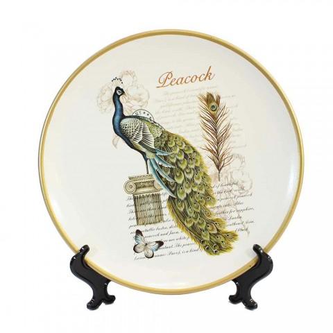 Bộ lục bình tranh đĩa chim công