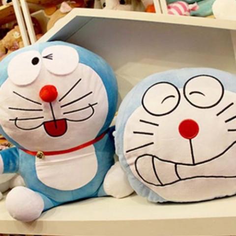 Bộ mèo bông và gối Doremon