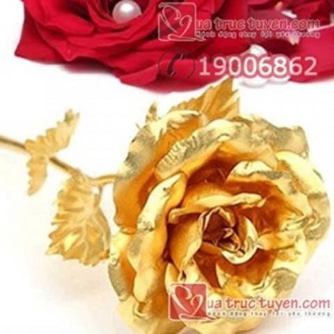 Hoa hồng mạ vàng loại 25cm