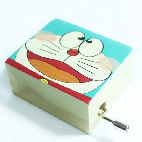 Hộp nhạc gỗ quay tay Hoạt Hình - Doraemon