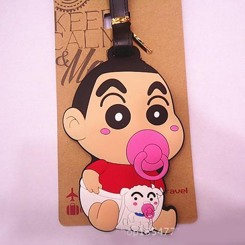 Thẻ đeo hành lý name tag Shin cậu bé bút chì