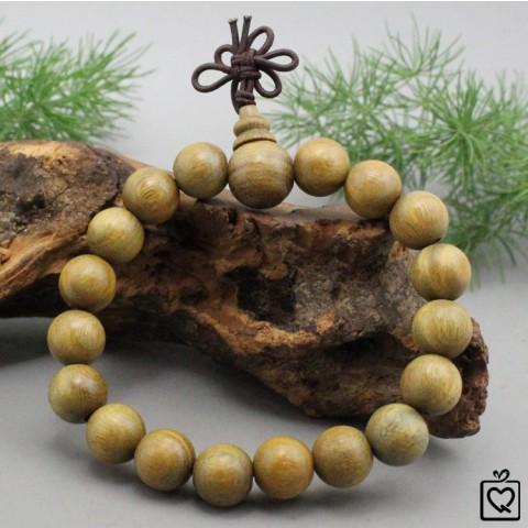 Vòng tay phong thủy gỗ đàn hương xanh