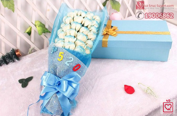 hoa-hong-33-bong-gift-set-xanh
