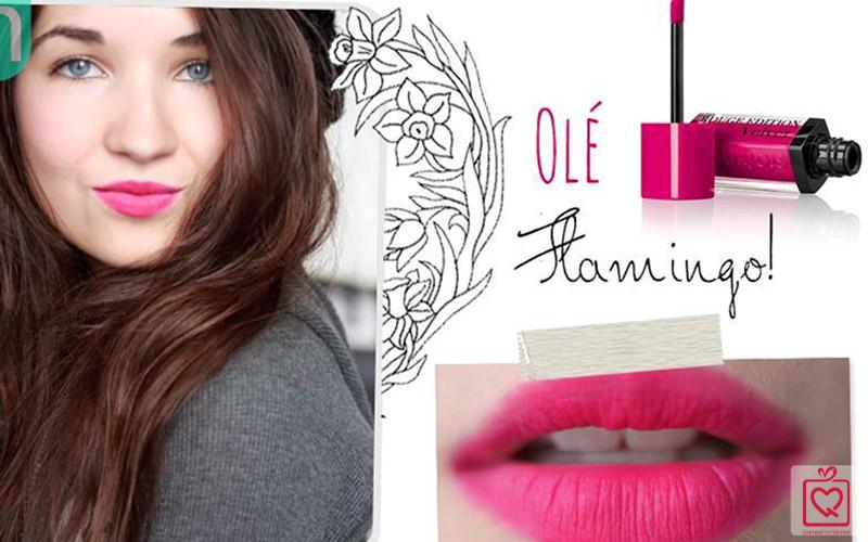 Son lì Velvet 05 Bourjois Rouge Edittion Olé Flamingo (Hồng đậm)